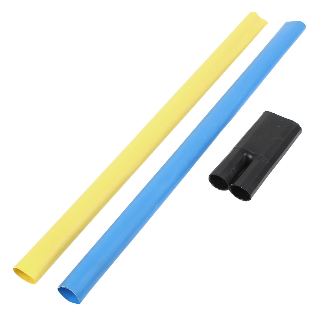 2Pcs Blue Yellow Polyolefin 30mm Dia 70-120mm2 Cable Heat Shrink Cover Wiring Shrinkable Tube 0.6M w Breakout Boot