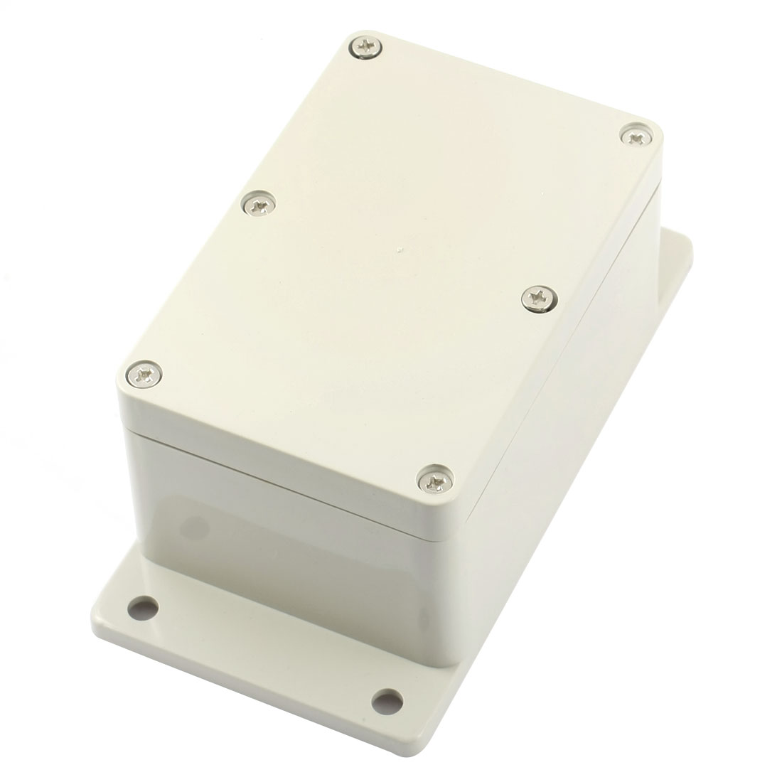 120mm x 80mm x 55mm DIY Rectangle Light Gray Plastic Waterproof Plastic Junction Box Electric Protection Case