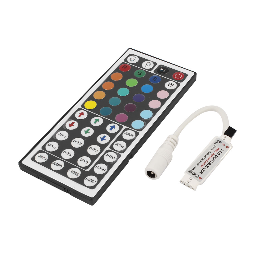LED Light Strip CR2025 Button Battery Powered IR Remote Control RGB Controller Switch 44-Key DC 12V