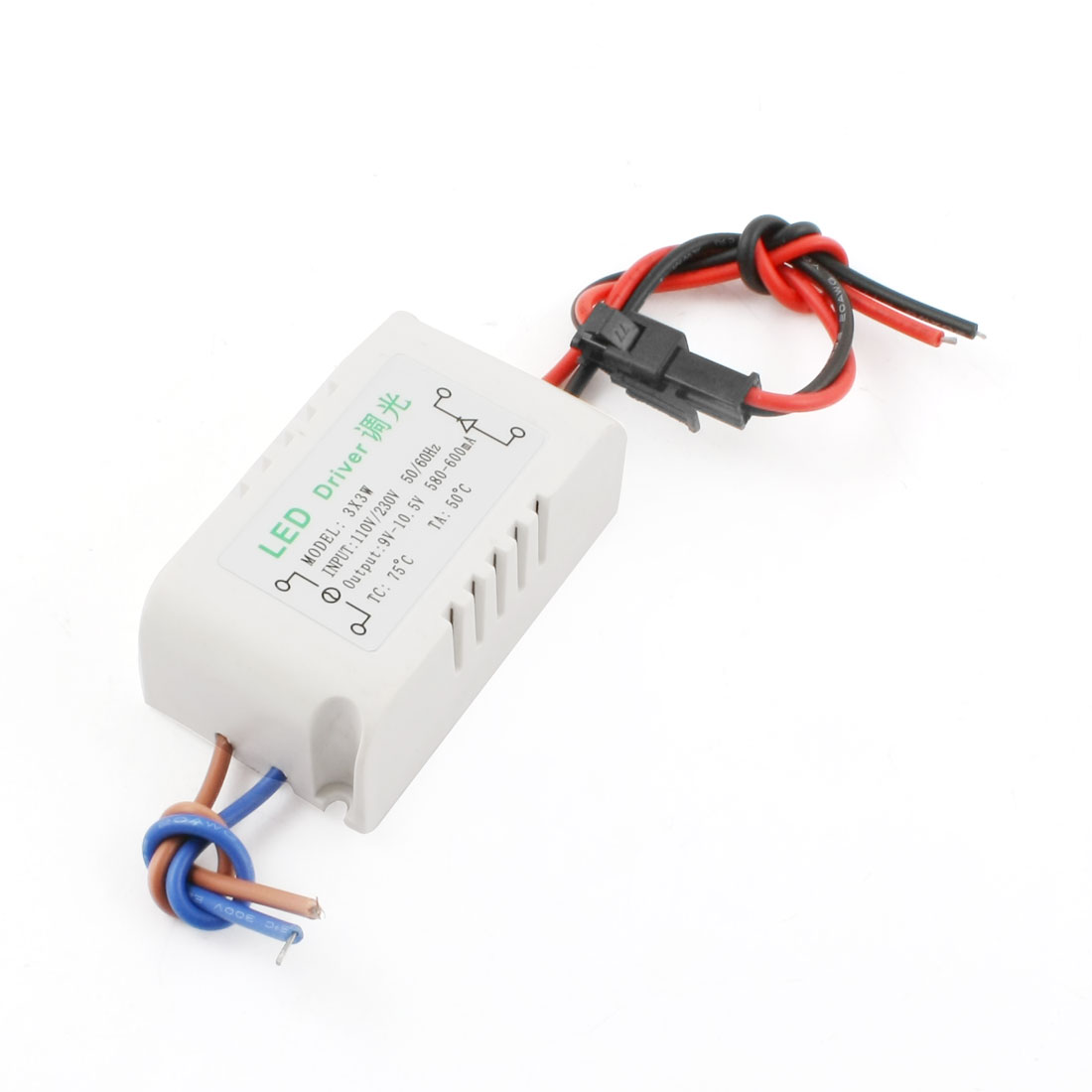 AC 110V/230V to DC 9-10.5V 500-600mA 3x3W Waterproof LED Light Dimmer Driver Power Converter Adapter