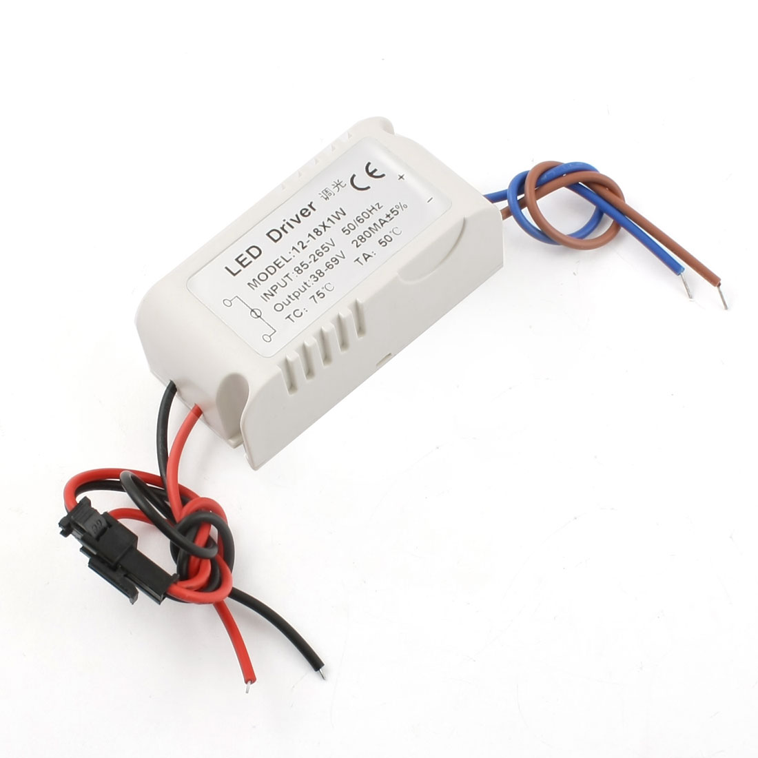 AC85-265V to DC38-69V 280mA (12-18)x1W Waterproof Plastic LED Dimmer Driver Power Supply Converter Adapter