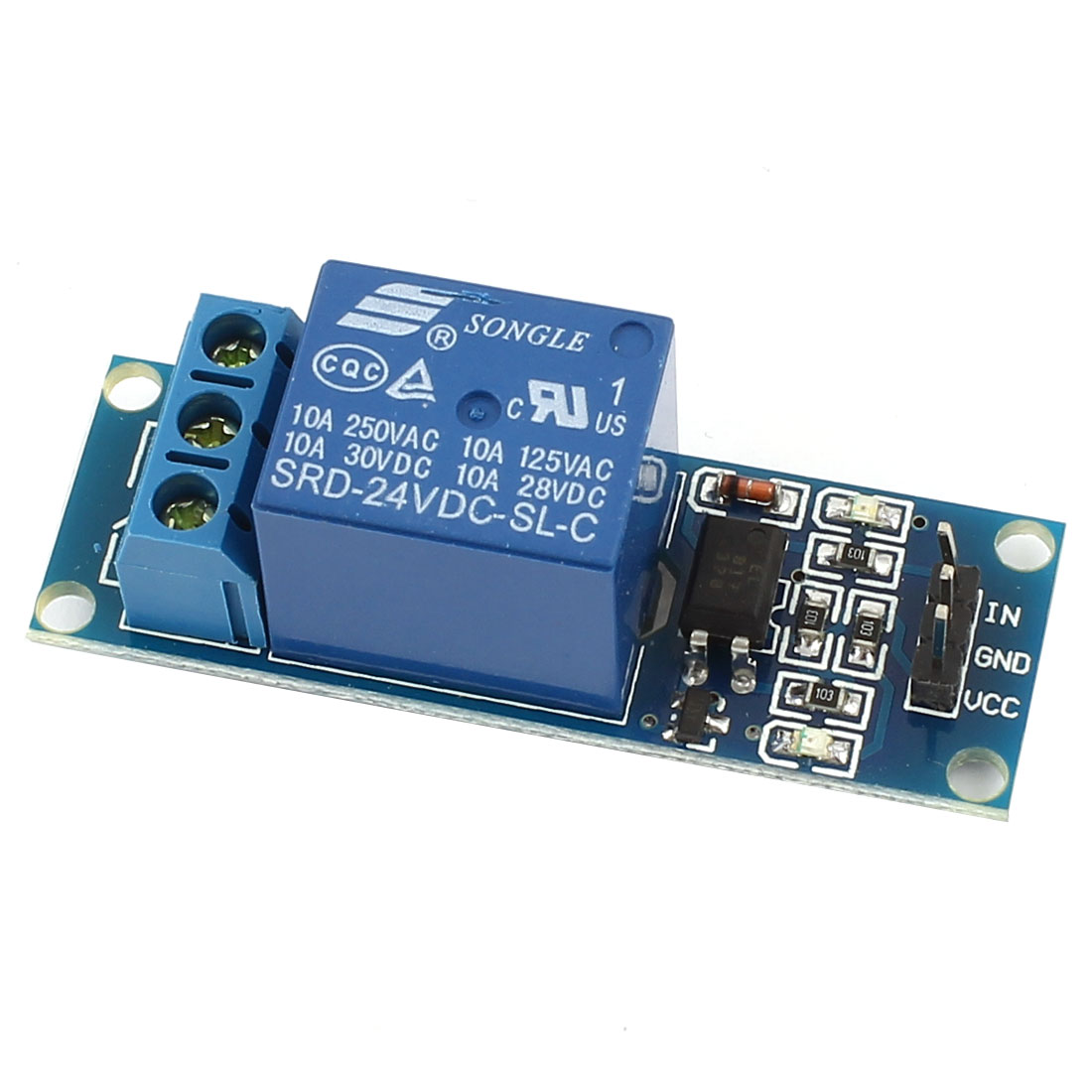 DIY 1 Channel High Level Trigger Optical Coupler Driver Expansion Circuit Board Module DC24V