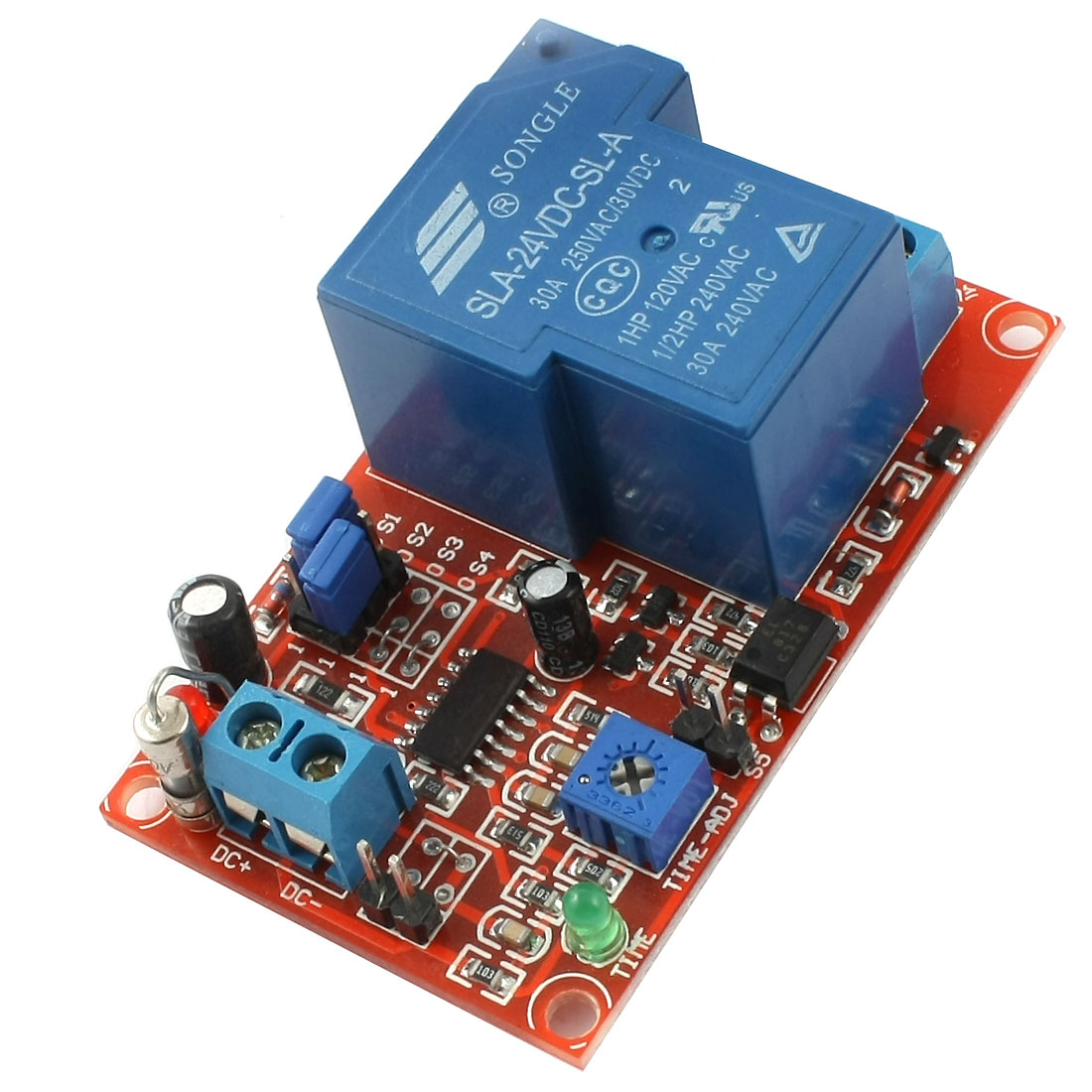 DC 24V 1 Channel High Current Normally Open Activating Relay Module for ARM PIC AVR RSUS