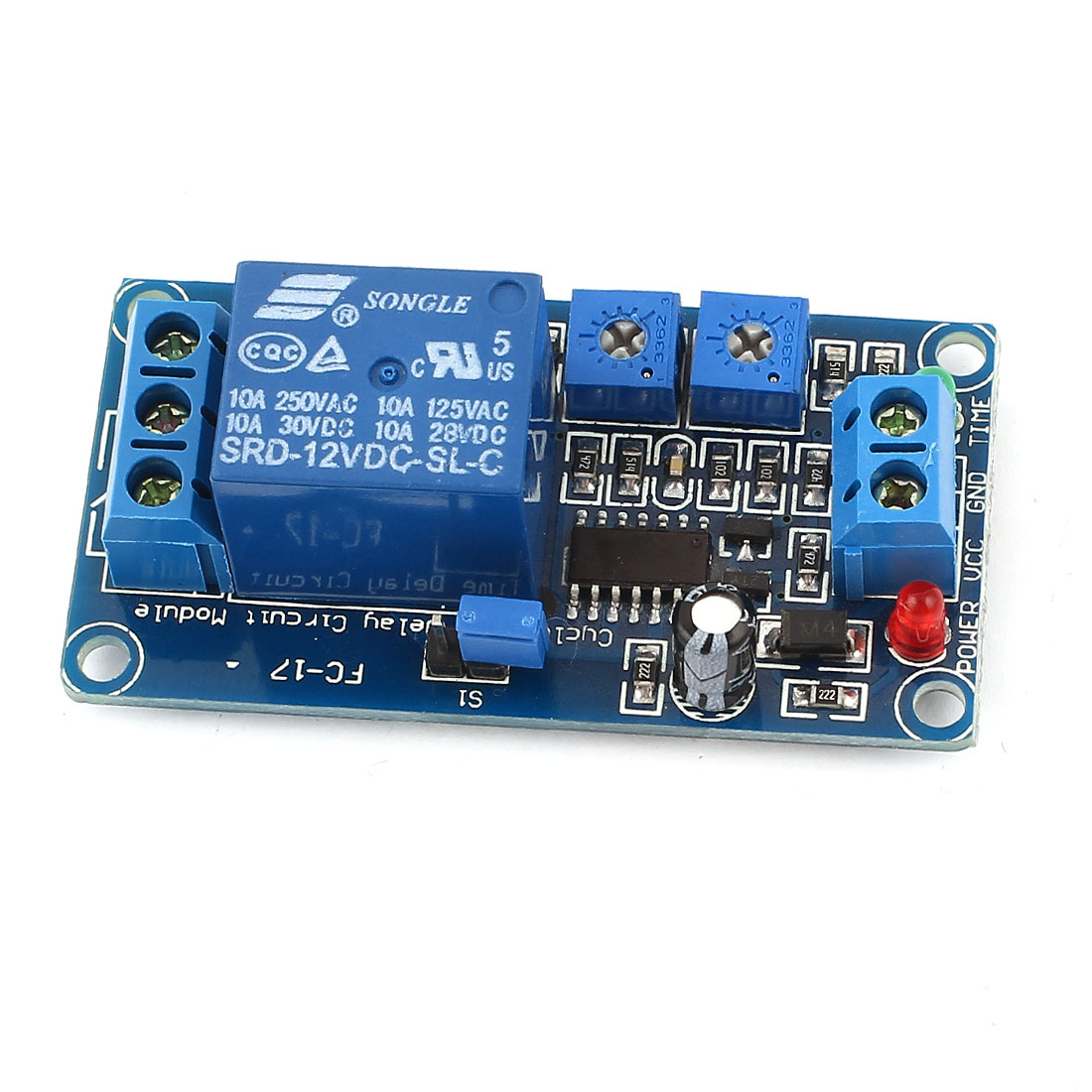 DIY MCU 1-Channel Cycle Timing Time Delay Relay Module PCB Board DC 12V