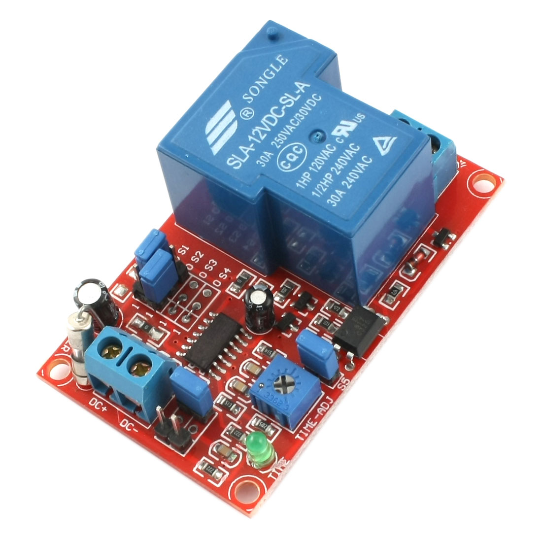 SLA-12VDC-SL-A 1 Way High/Low Level Trigger Delay Time Relay Module DC12V 30A
