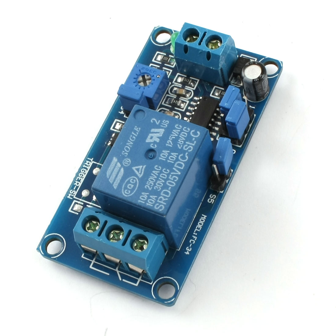 DC 5V 1 Channel Normally Closed Activating Time Delay Relay Module for ARM PIC AVR RSUS