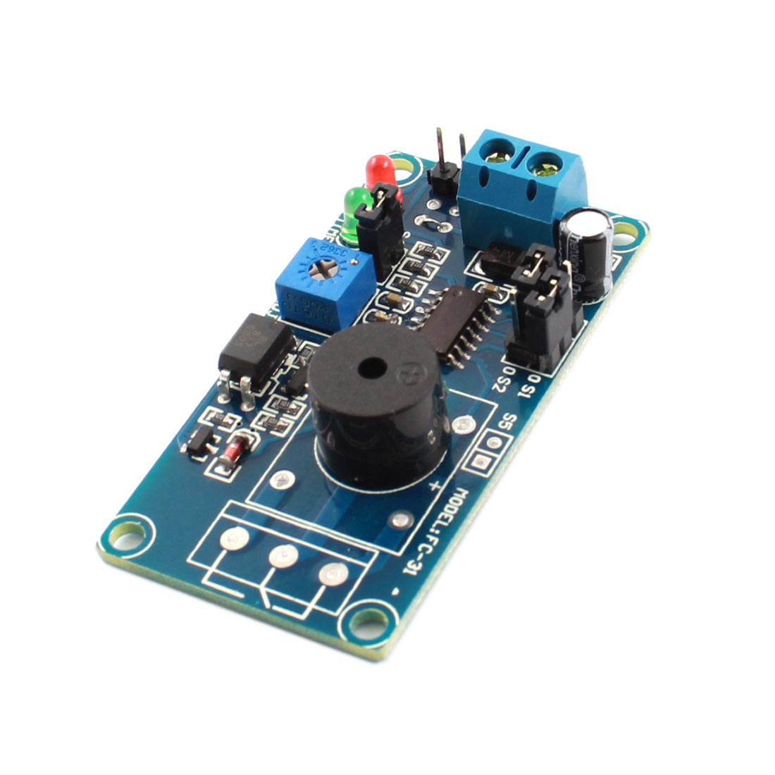 FC-31 DC 12V 85dB Normally Open Trigger Buzzer Alarm Time Delay Module PCB Circuit Board Blue