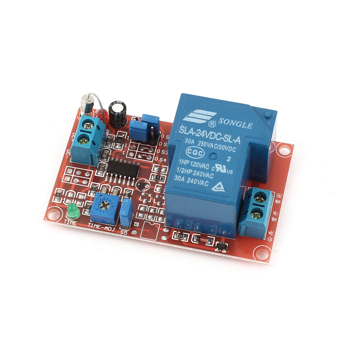DC 24V 1-Channel Time Delay Relay Module Extension Board for AVR