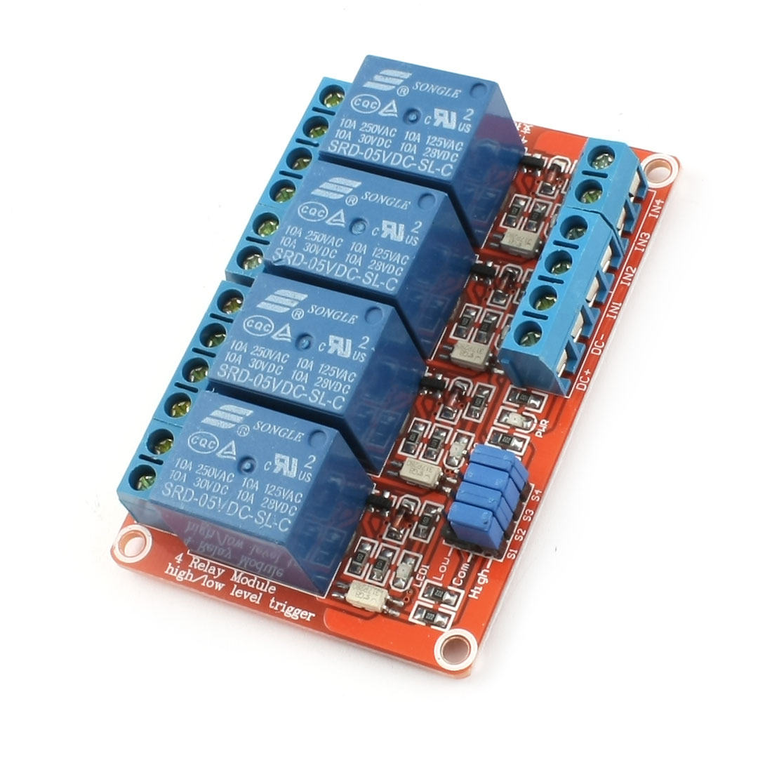 DIY Parts 5V High/Low Level Trigger 4-CH Relay Module Expansion Board