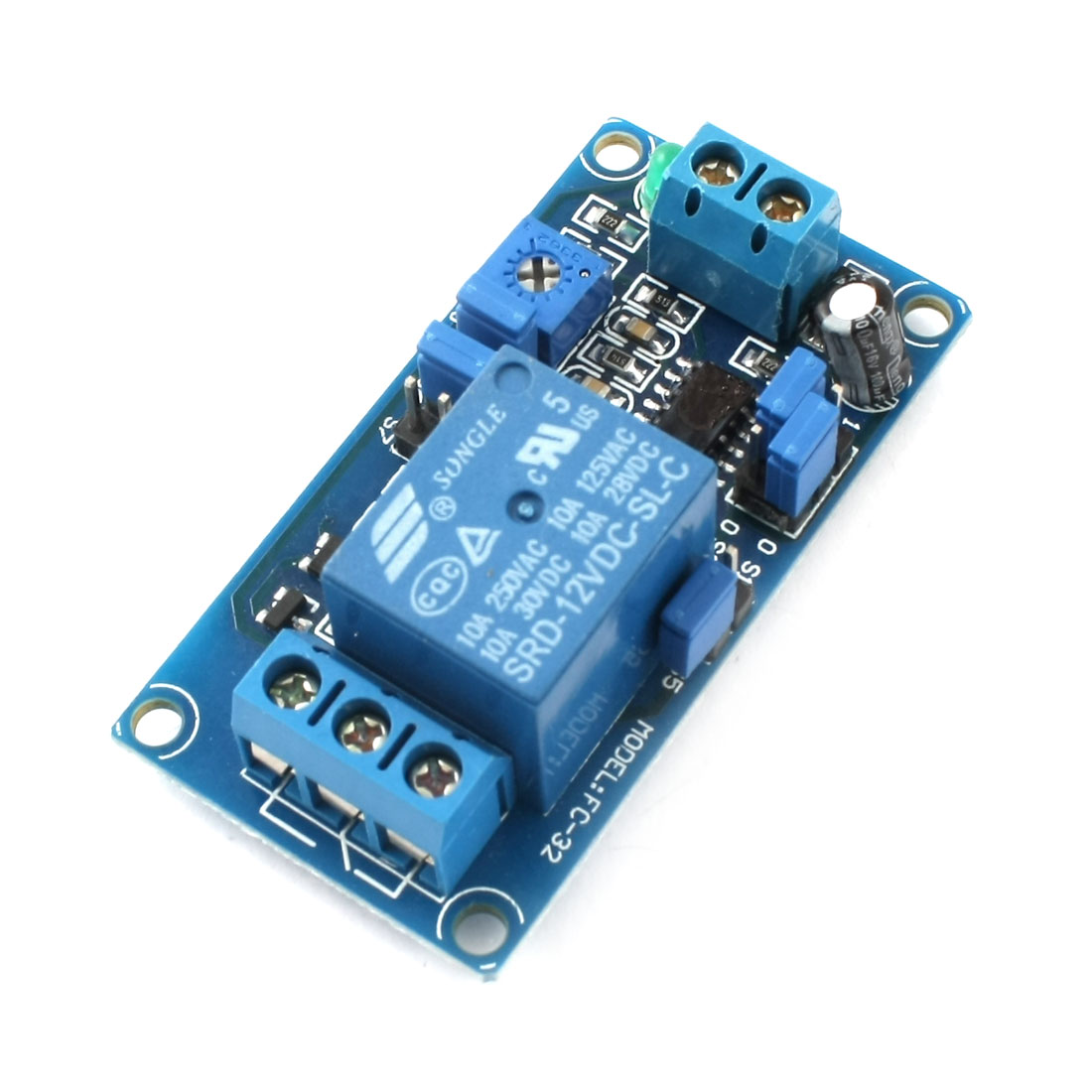 SRD-12VDC-SL-C 1 Way Low Level Trigger Adjustable Delay Time Relay Module DC12V 10A