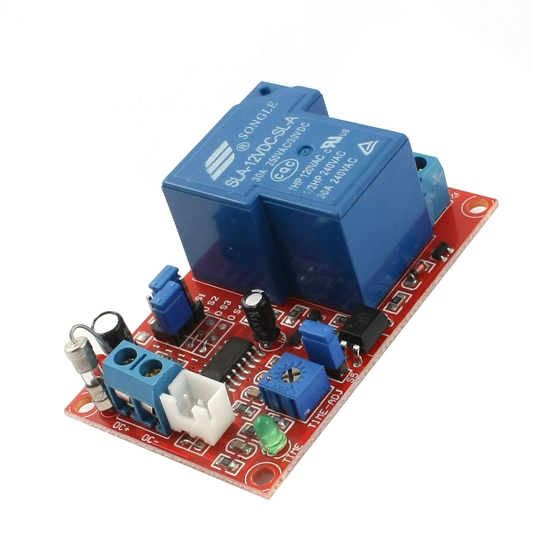 SLA-12VDC-SL-A 1 Way Normally Closed Activating Delay Time Relay Module DC12V 30A