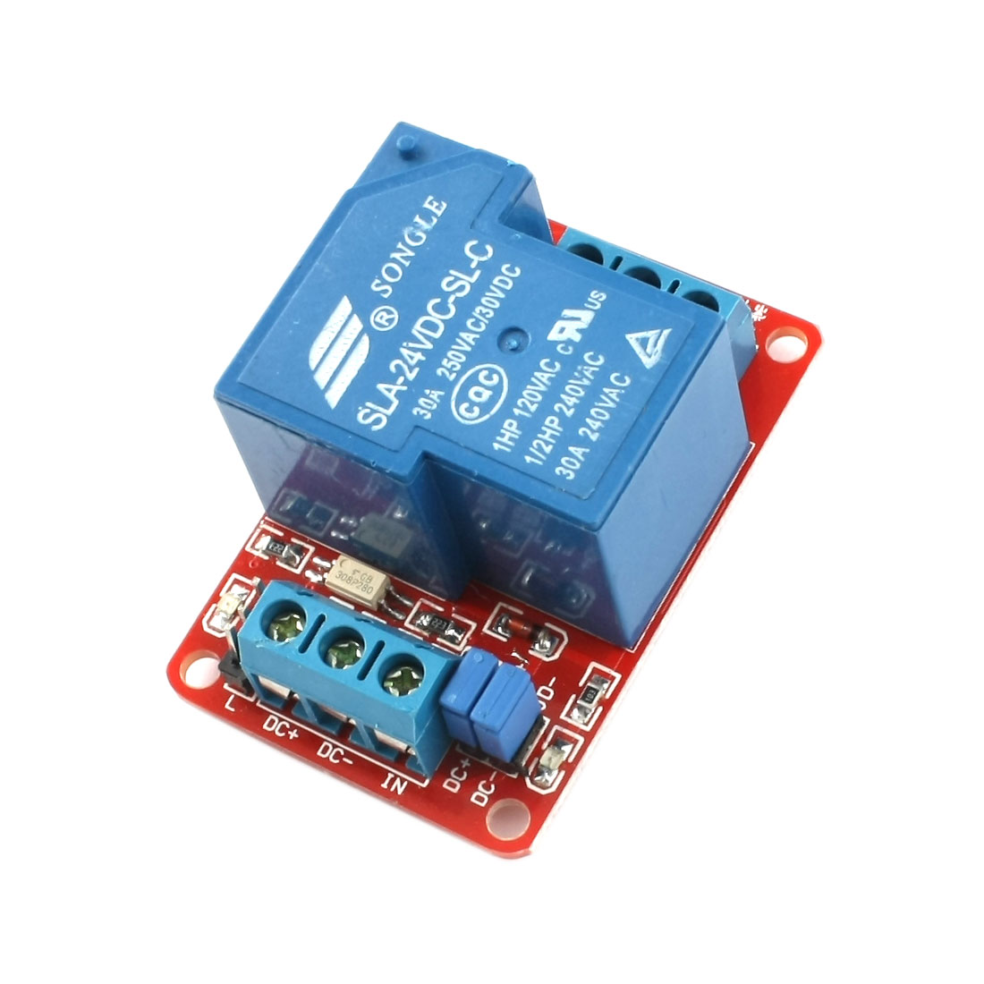 DC24V 1 Channel Relay Board Compatible Relay Module 30A + Optocoupler