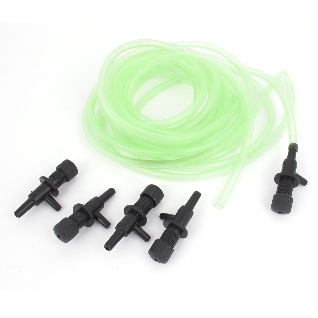 5.5m Aquarium Green Soft Plastic Air Tube + Control Valve 6 in 1 Set