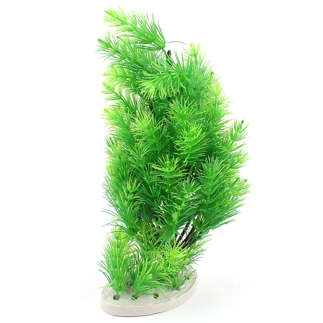 "8.7"" High Green Pine Tree Plastic Simulation Aquarium Plants Adorn Fish Tank"