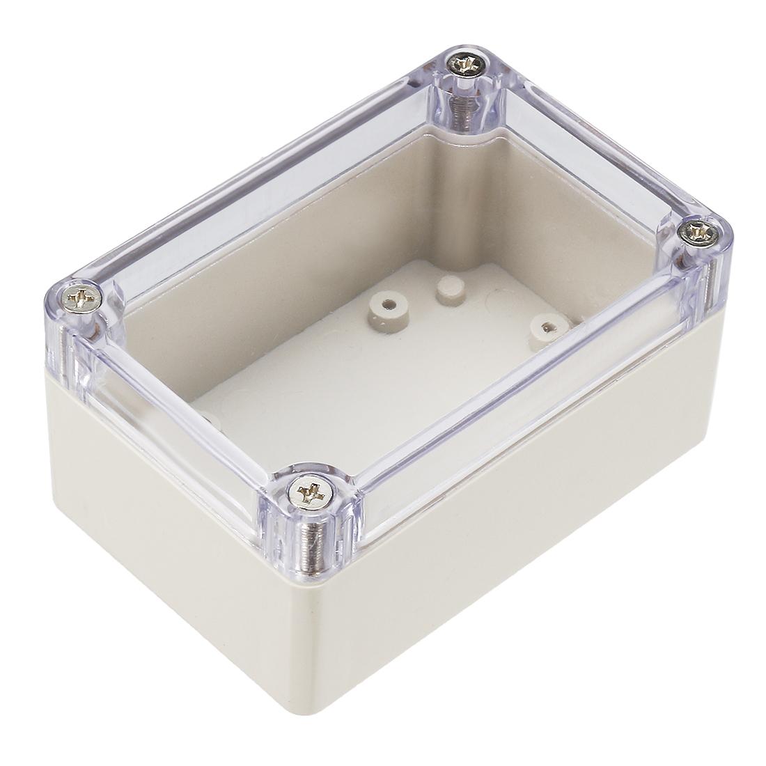 2pcs 100mm x 70mm x 50mm Clear Plastic Enclosure Case DIY Junction Box