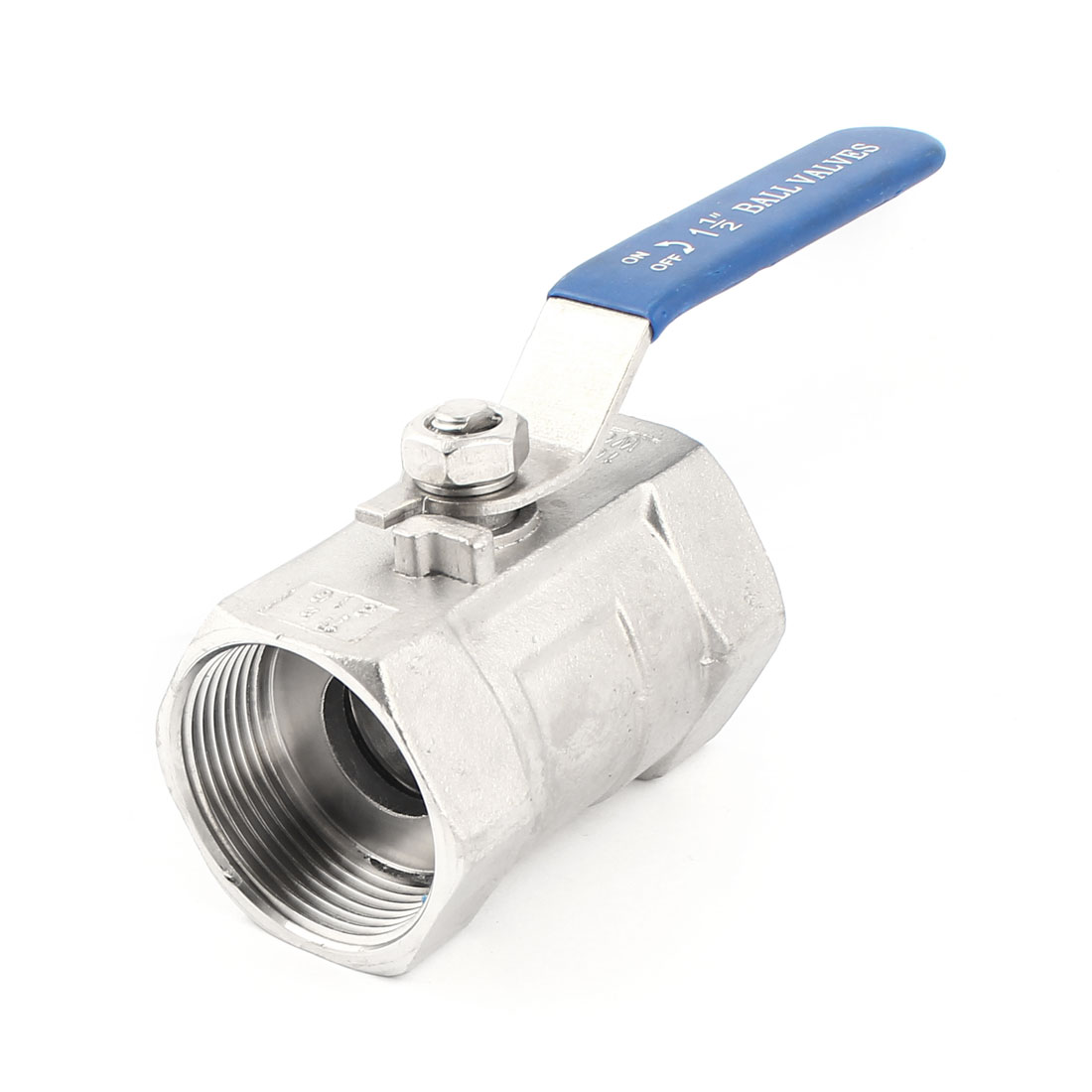 DN40 1 1/2PT 45mm Female Full Port 90 Degree Rotary Water Flow Control Stainless Steel Ball Valve