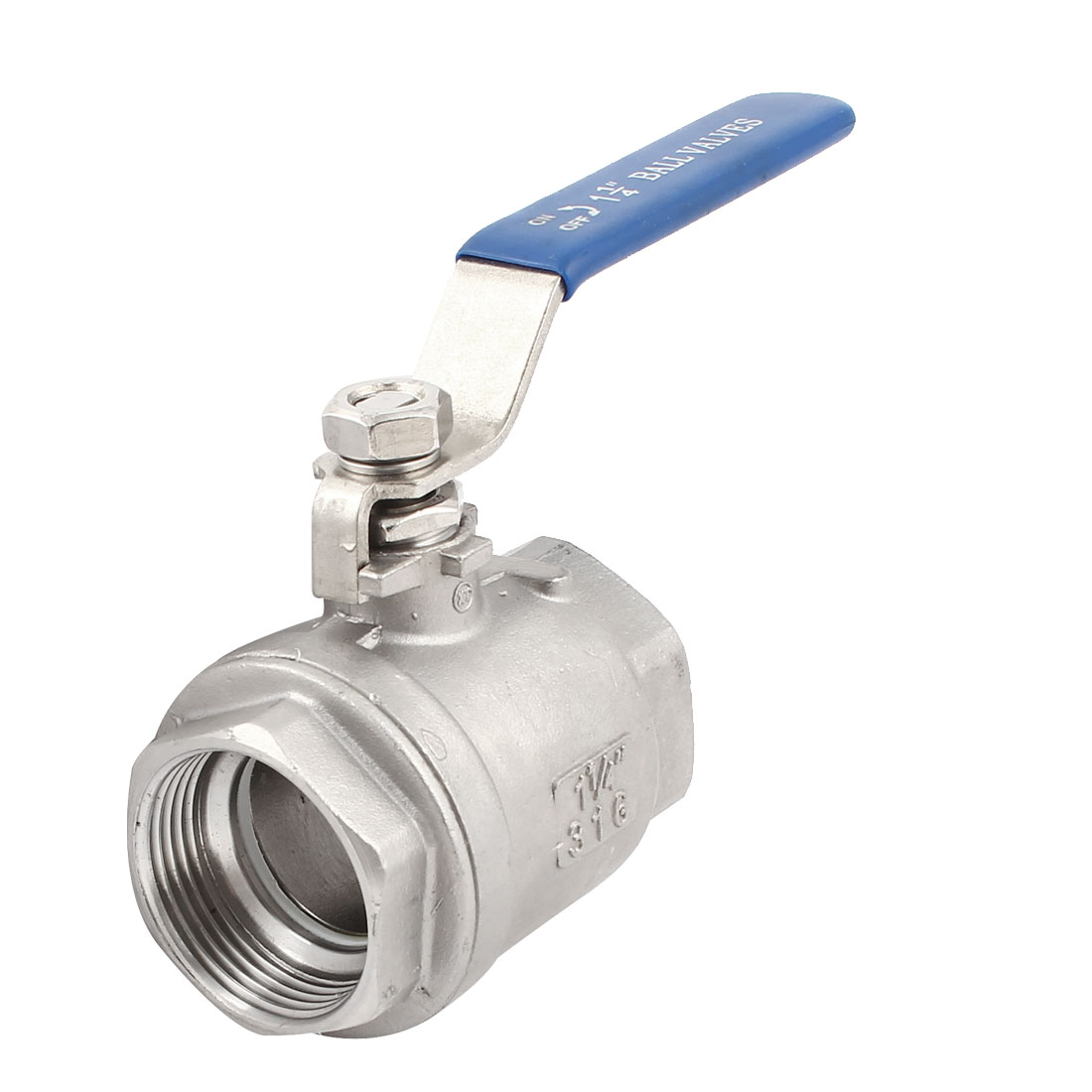 1 1/4PT Female Thread Full Port 90 Degree Rotary Lever Stainless Steel Two Piece Ball Valve
