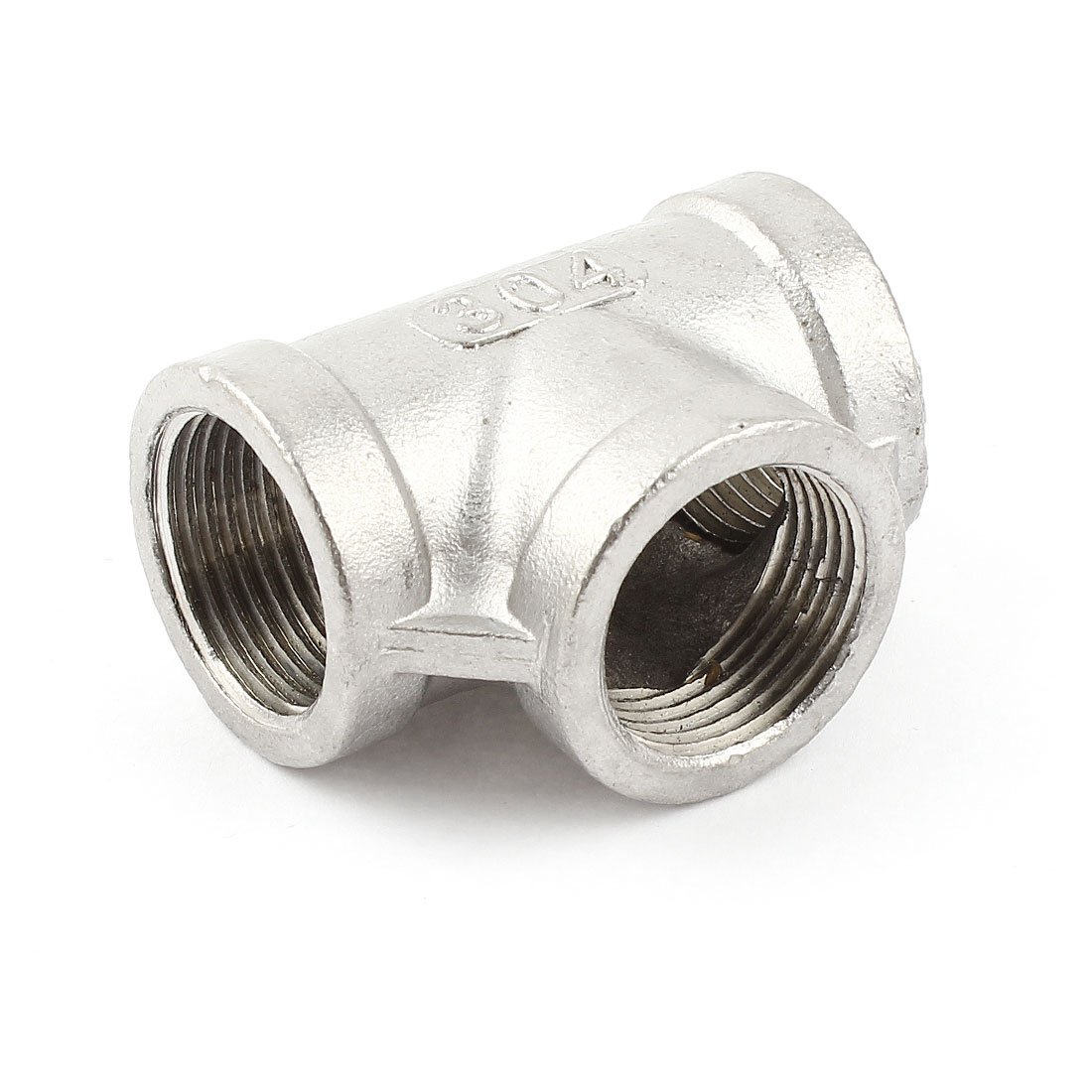 3/4BSPP Female Thread T Type 3 Way Full Port Stainless Steel Pipe Connector Quick Fitting