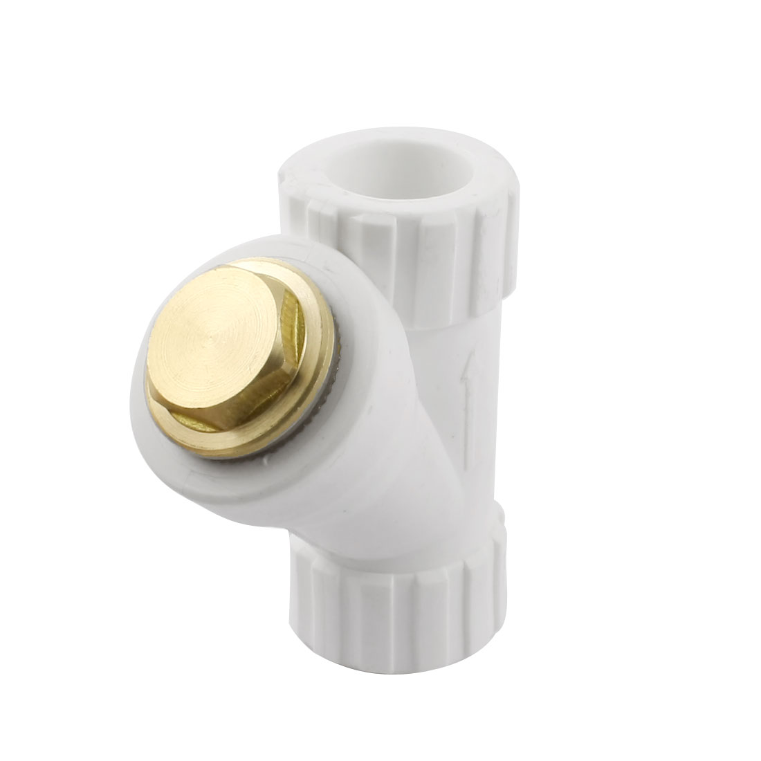 20mm Inner Dia PPR 2-Way Water Pipe Hose Coupler Connector w Filter