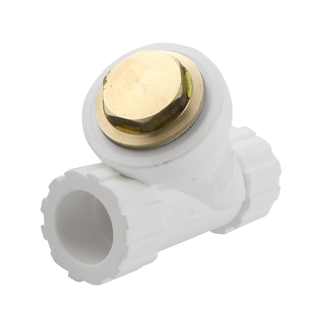 25mm to 25mm Straight Water Hose Pipe Fitting Connector w Filter