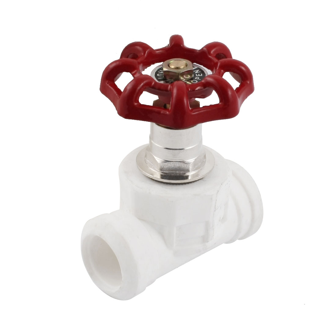 Plumbing 19mm x 19mm Double Way Red Handle PPR Gate Valve