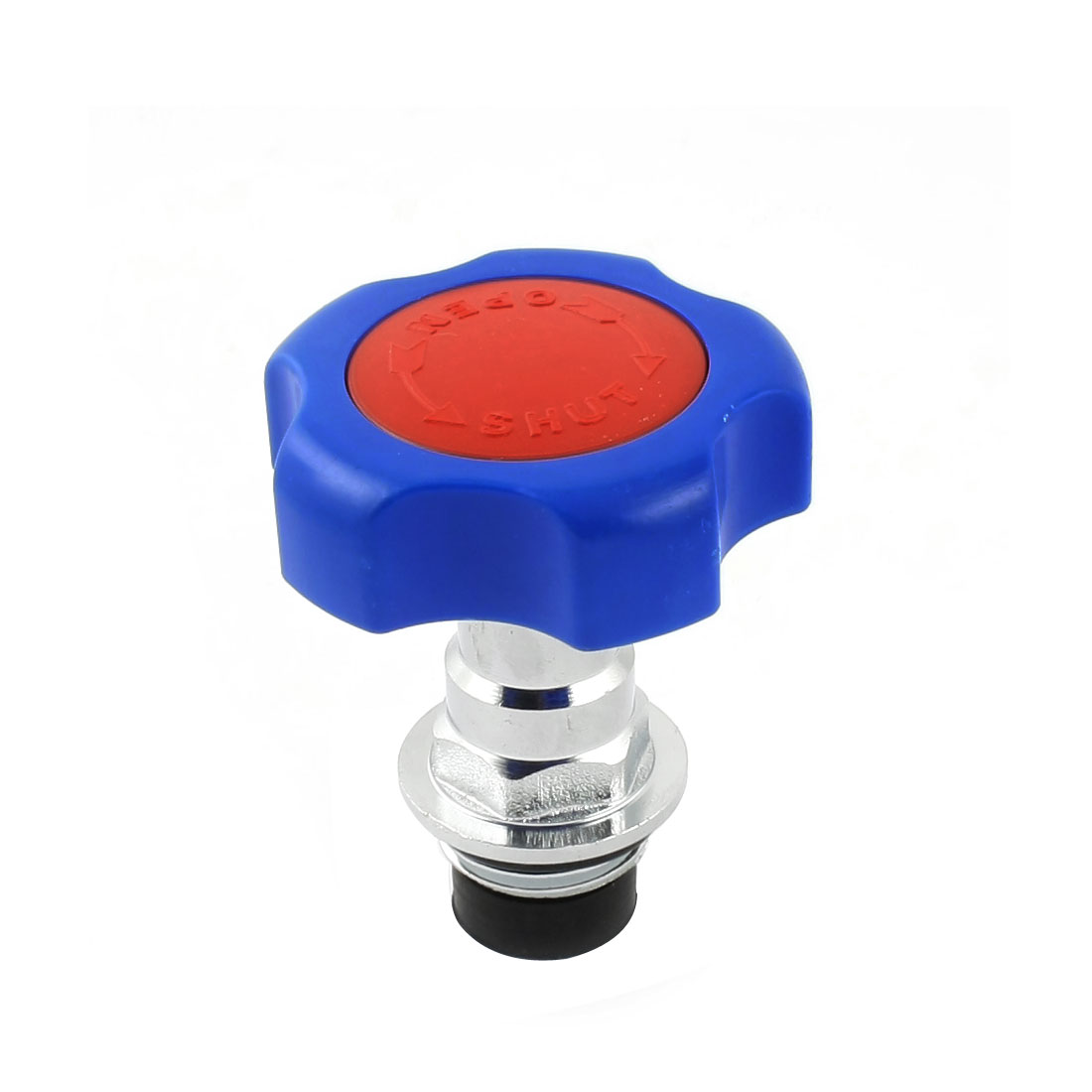 48mm Dia Handwheel 1/2PT Male Thread Water Tap Faucet Gate Valve Blue