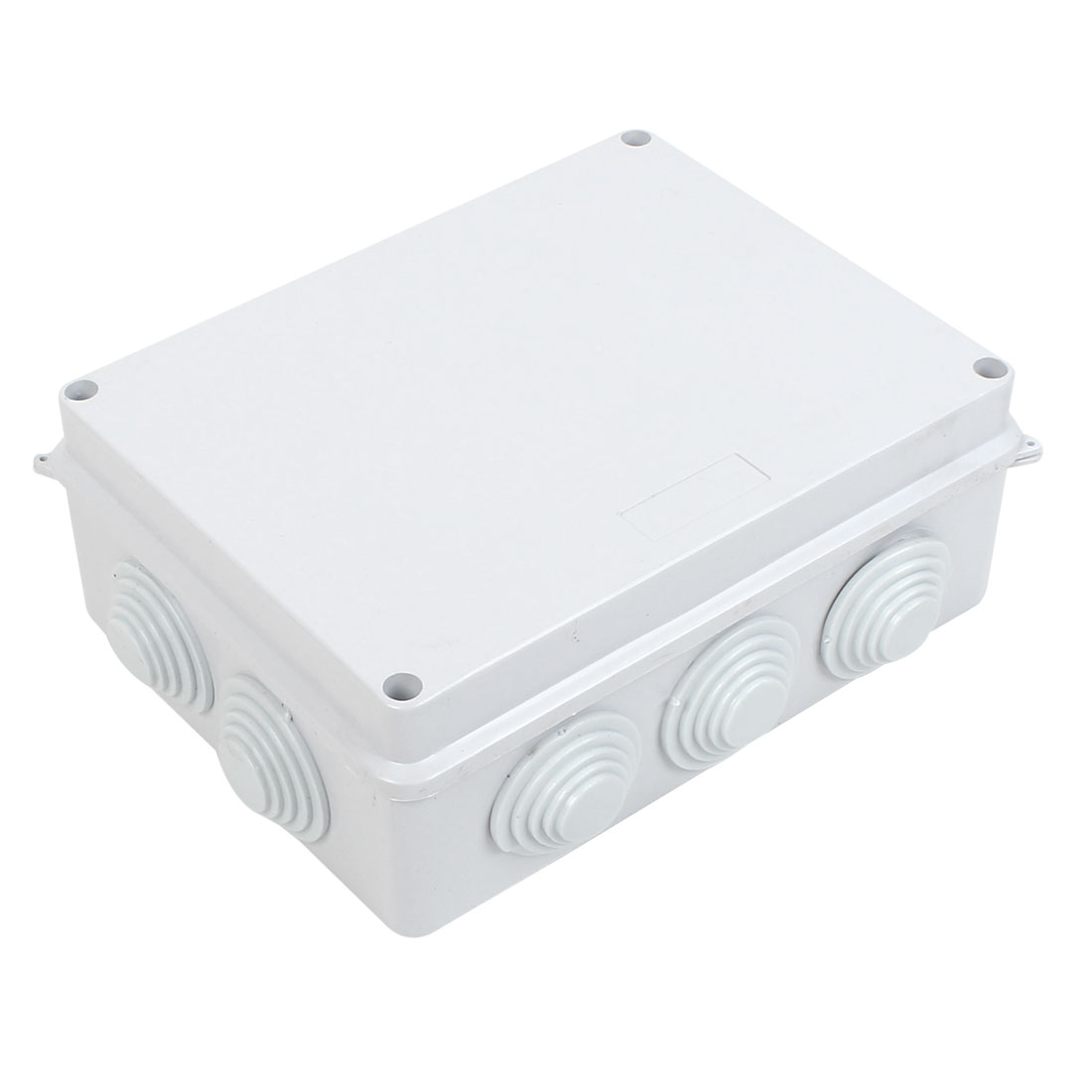 White ABS IP65 Waterproof EnClosure Junction Box 200mmx155mmx80mm