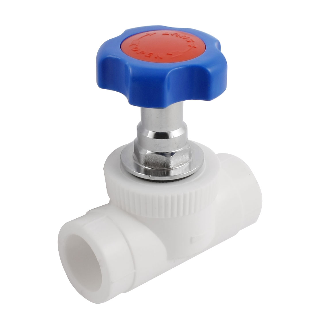Blue Rotary Knob 24mm x 24mm Hole Stop Water PPR Gate Valve