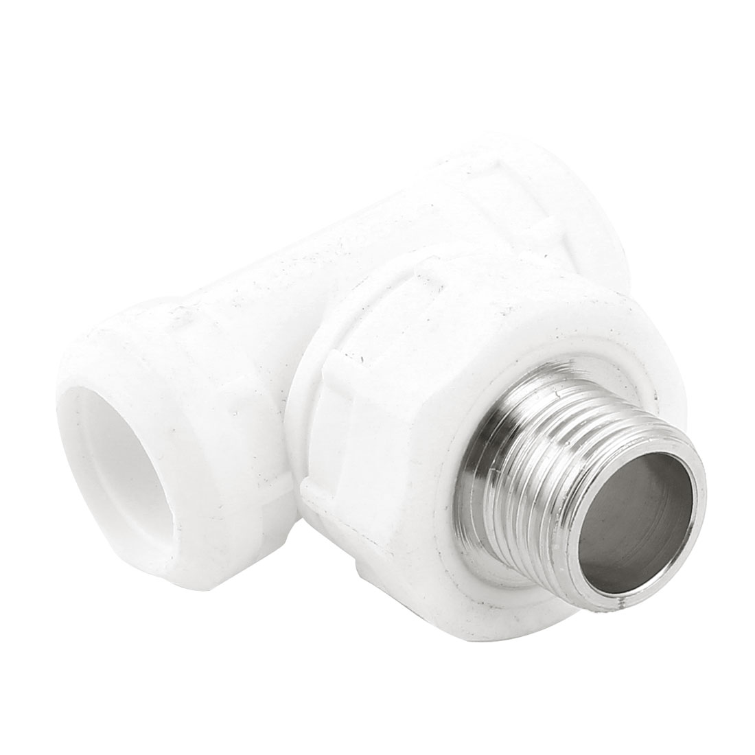 Water Hose Pipe Tube Tee T Fitting Connector 20mm to 1/2PT Male Thread