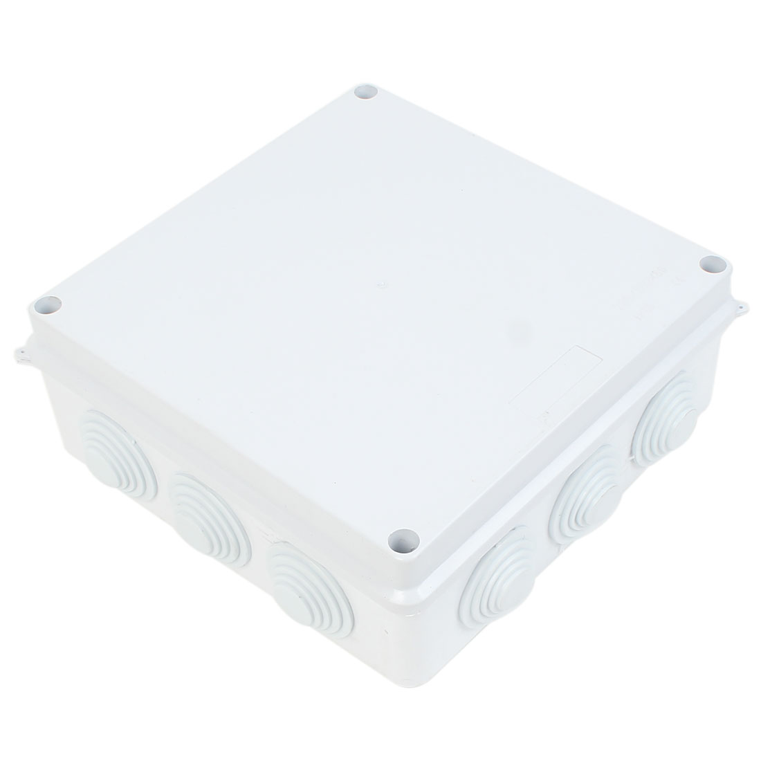 White ABS IP65 Waterproof Sealed Electrical Junction Box Case 200x200x80mm