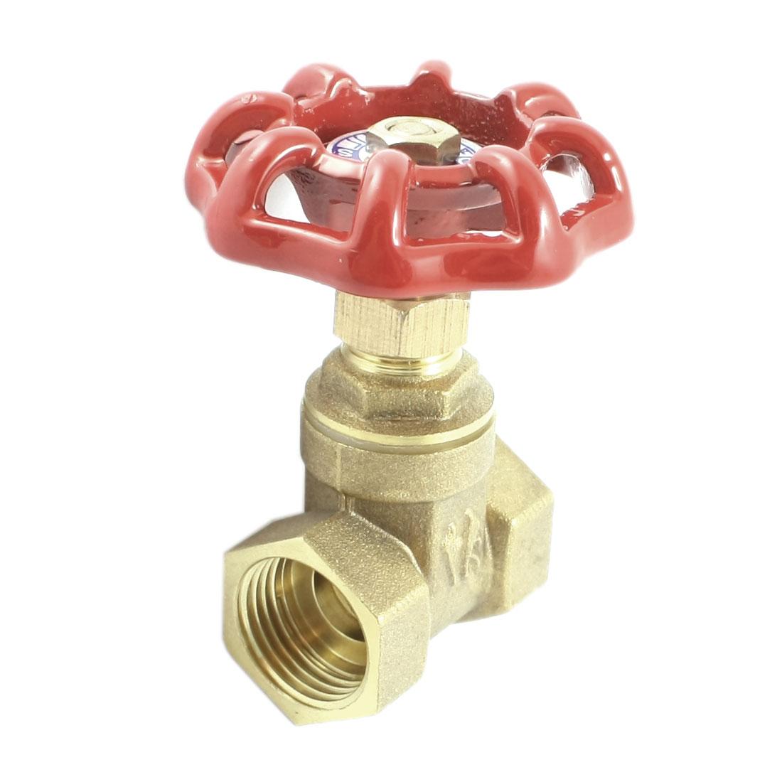 1/2PT 19mm Female Thread Dia Full Port Brass Gas Angle Stop Valve