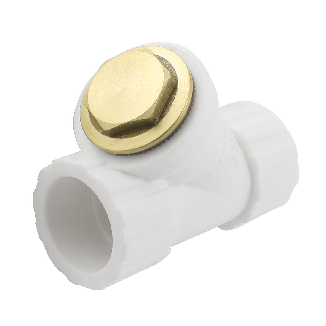 32mm Inner Dia PPR 2-Way Water Pipe Hose Coupler Connector w Filter