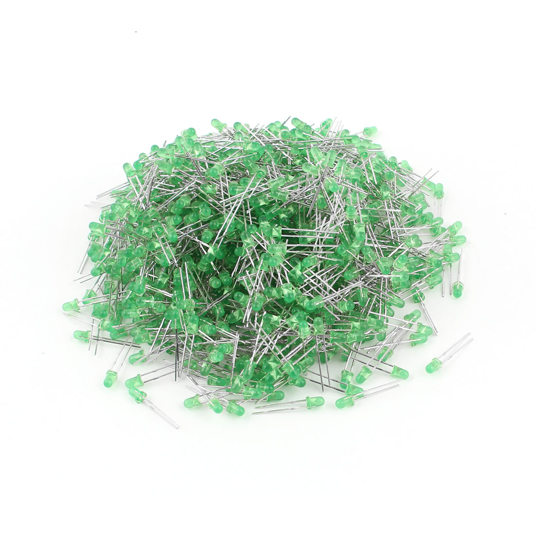 1000 Pcs 3mm Round Head Green LED Light Emitting Diodes