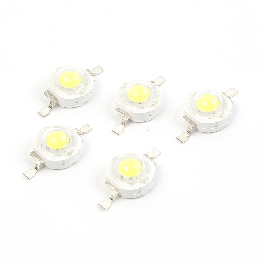 5 Pcs White Light Emitting Diode Chip LED 1W 100LM