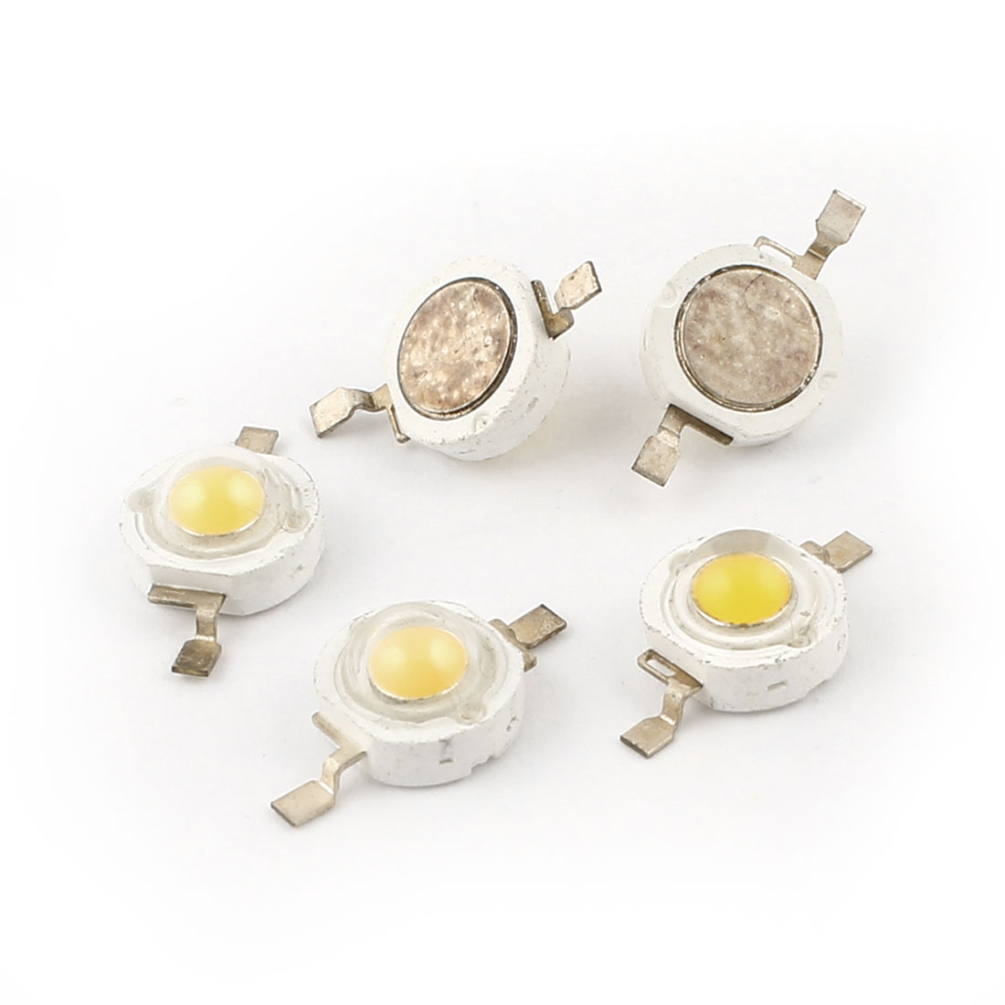 5 Pcs Warm White Light Emitting Diode Chip LED 1W 100LM