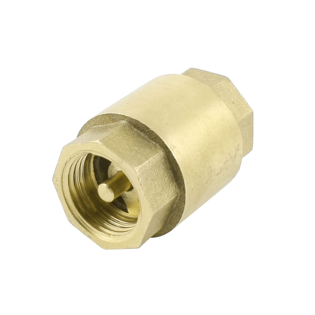 Brass 1/2PT Famele Thread Inline Vertical Spring Loaded Check Valve