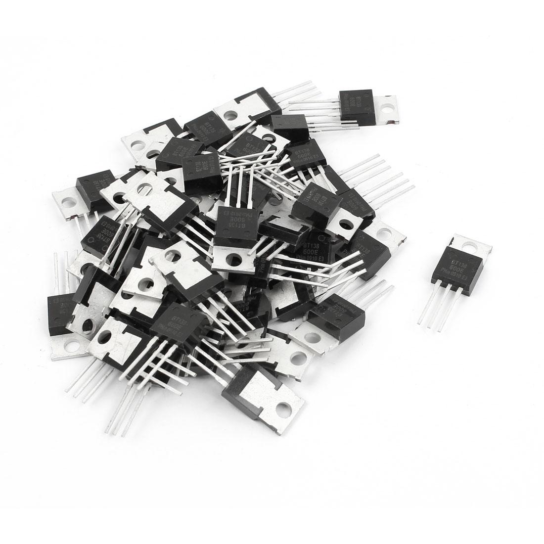 50 Pcs BT138-600E TO-220 Triacs Logic Level Thyristor 600V 12A