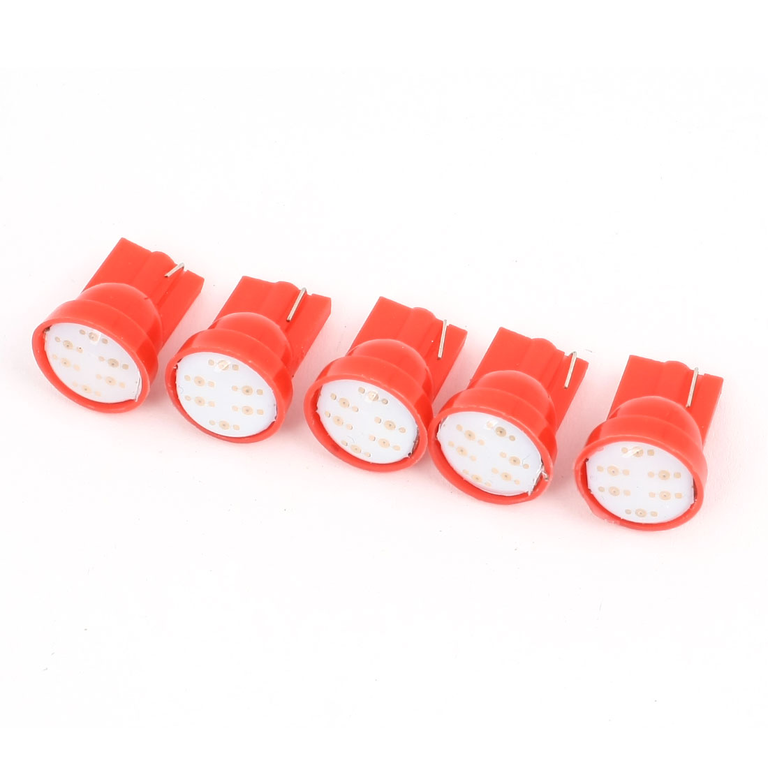 5 Pcs Red T10 LED 6 Clip COB Bulb Light Parking Backup Brake Tail Lamp