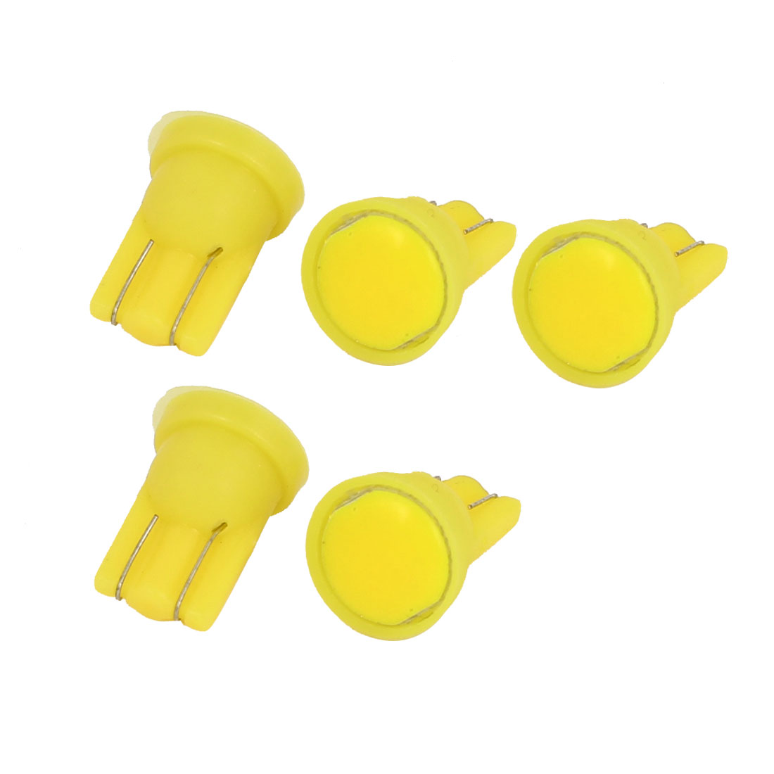 5 Pcs Car Wedge Yellow 6 Clip COB LED T10 Side Tail Turning Bulb Lamp