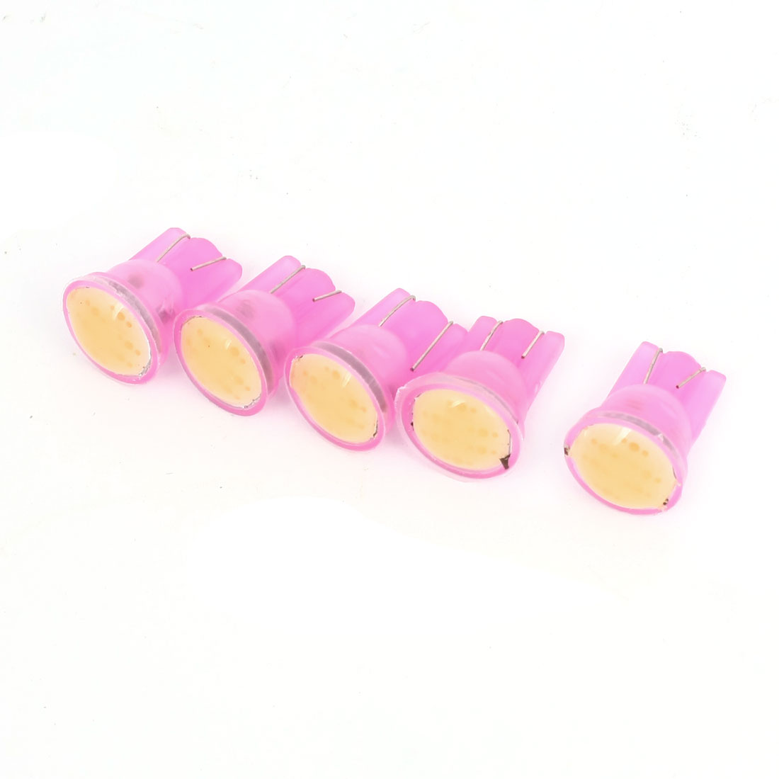 5 Pcs Pink T10 6 COB LED Car Wedge Dash Light Bulbs lamp 12V Internal