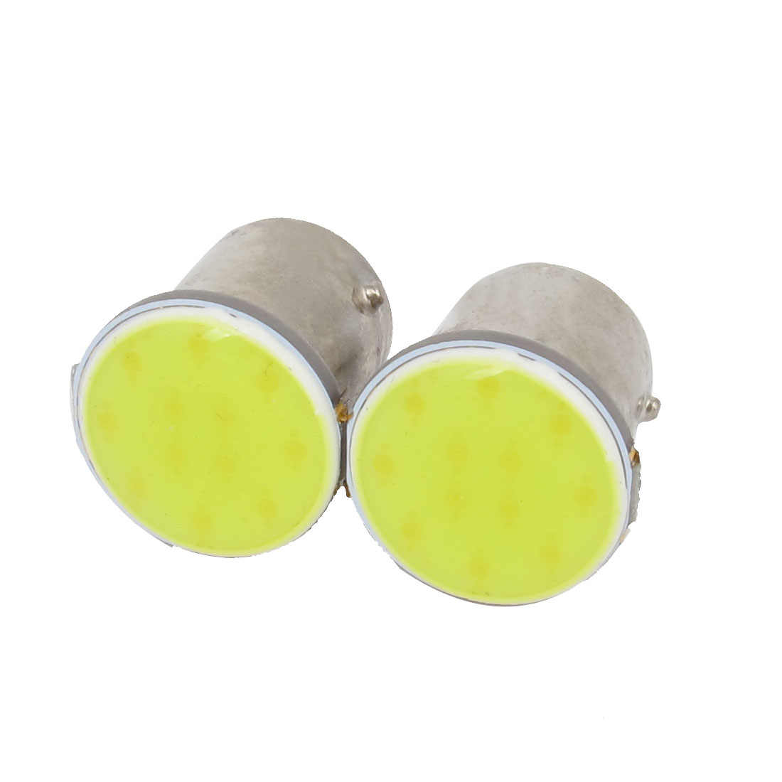 Pair 1156 BA15S 12 LED COB White Car Turn Signal Light Side Bulb 12V