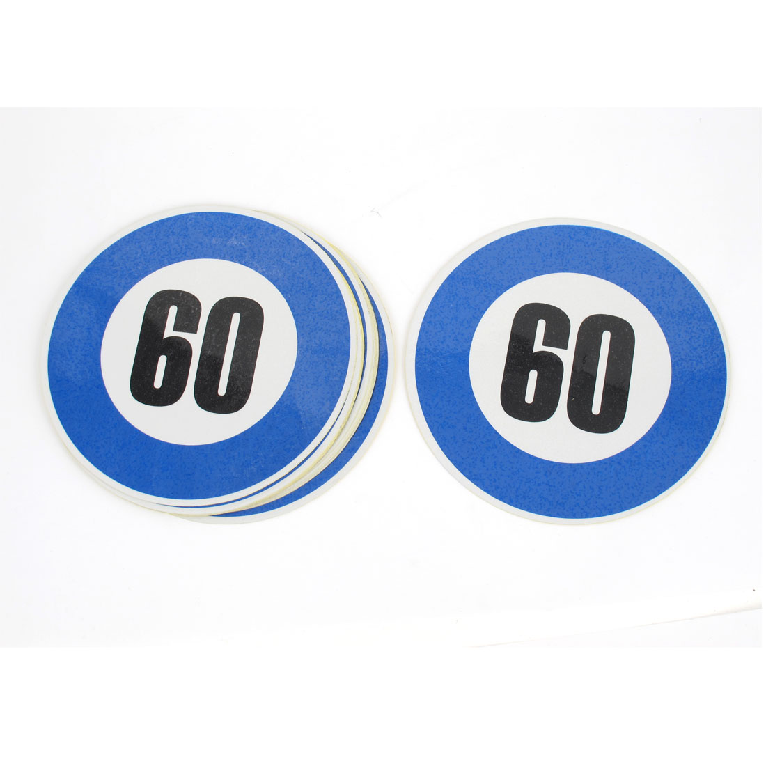 10 Pcs Car Auto 60KM Pattern Plastic Reflective Sticker Decor Blue Black