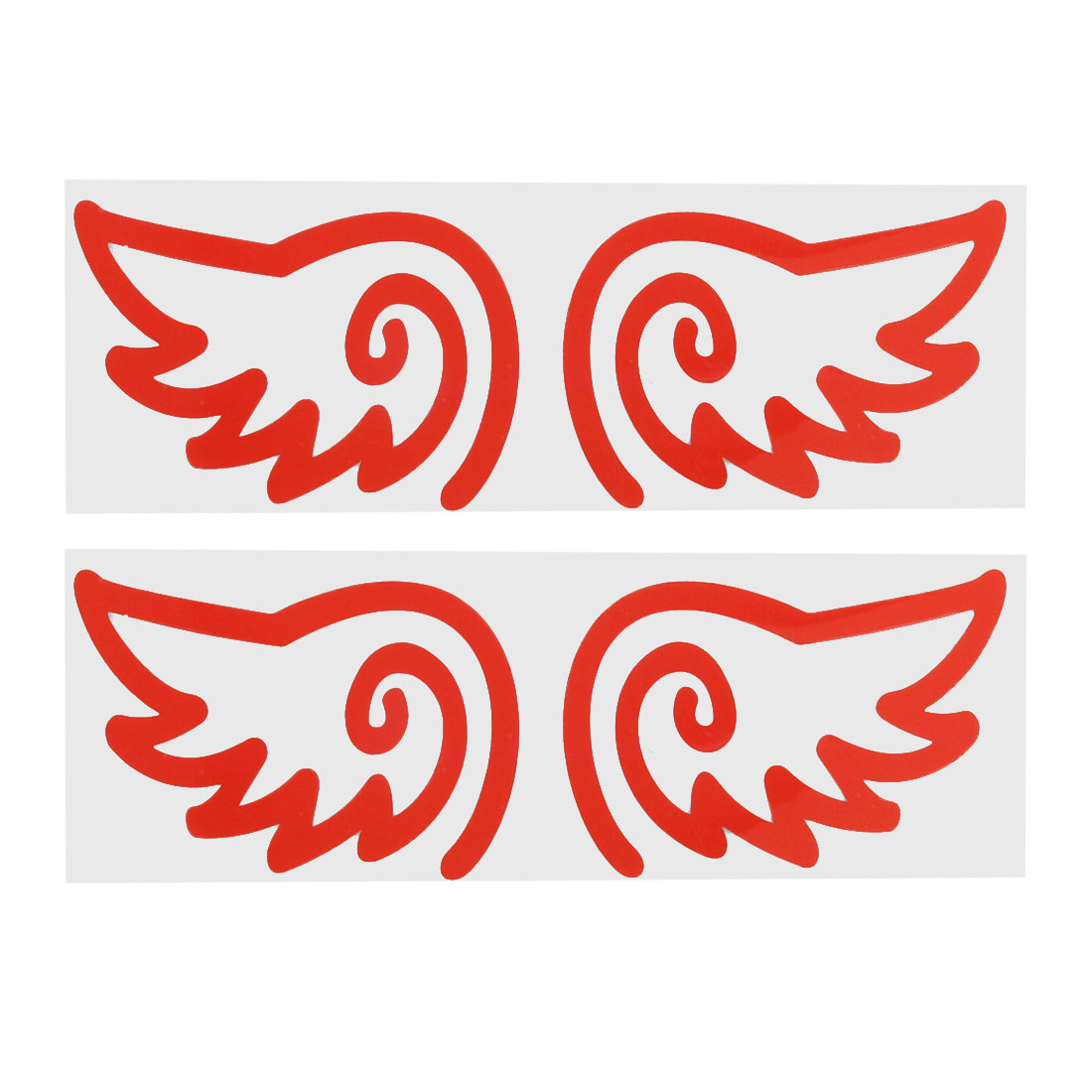 Auto Car Red Wing Shaped Reflective Sticker Decal Decorative 2 Pairs