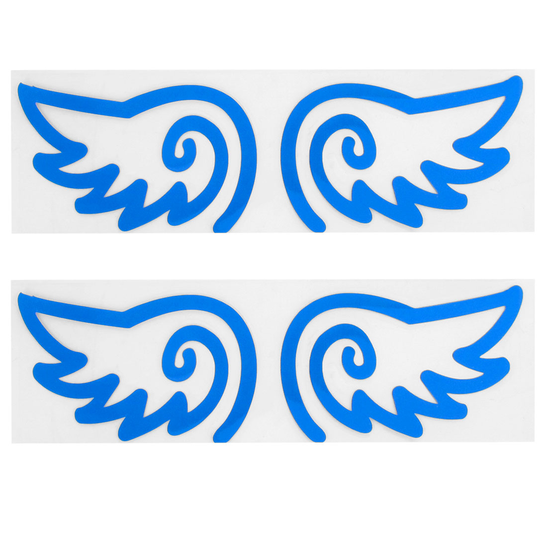 2 Pairs Self Adhesive Wing Shape Sign Car Reflective Sticker Decal Blue