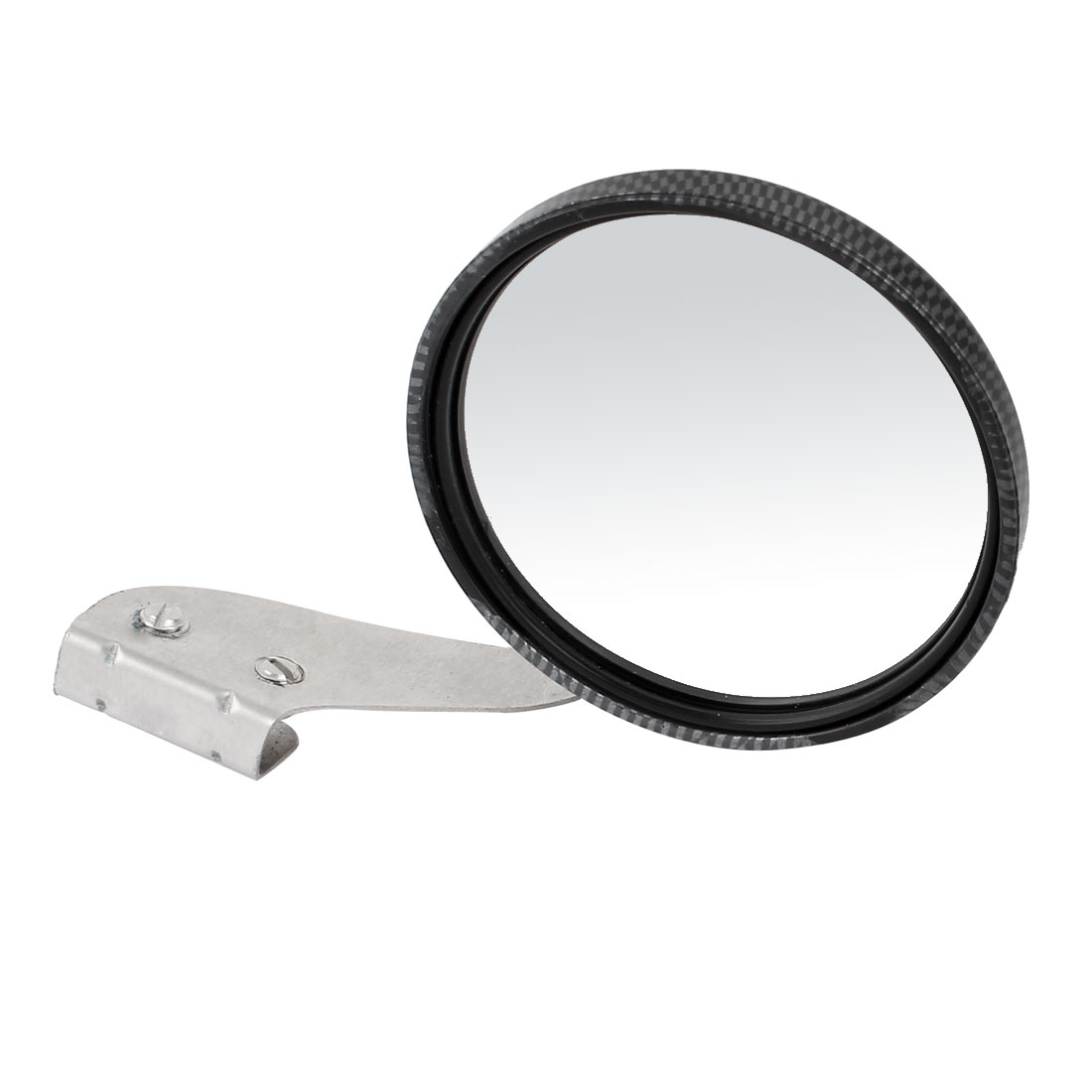 Car Carbon Fiber Plastic Shell Adjustable Angle Right Sideview Assistant Mirror