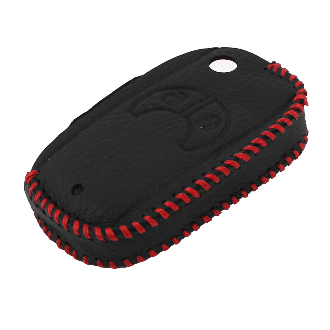 Auto Car Black Faux Leather Remote Key Fob Holder Case Cover Protector for Opel
