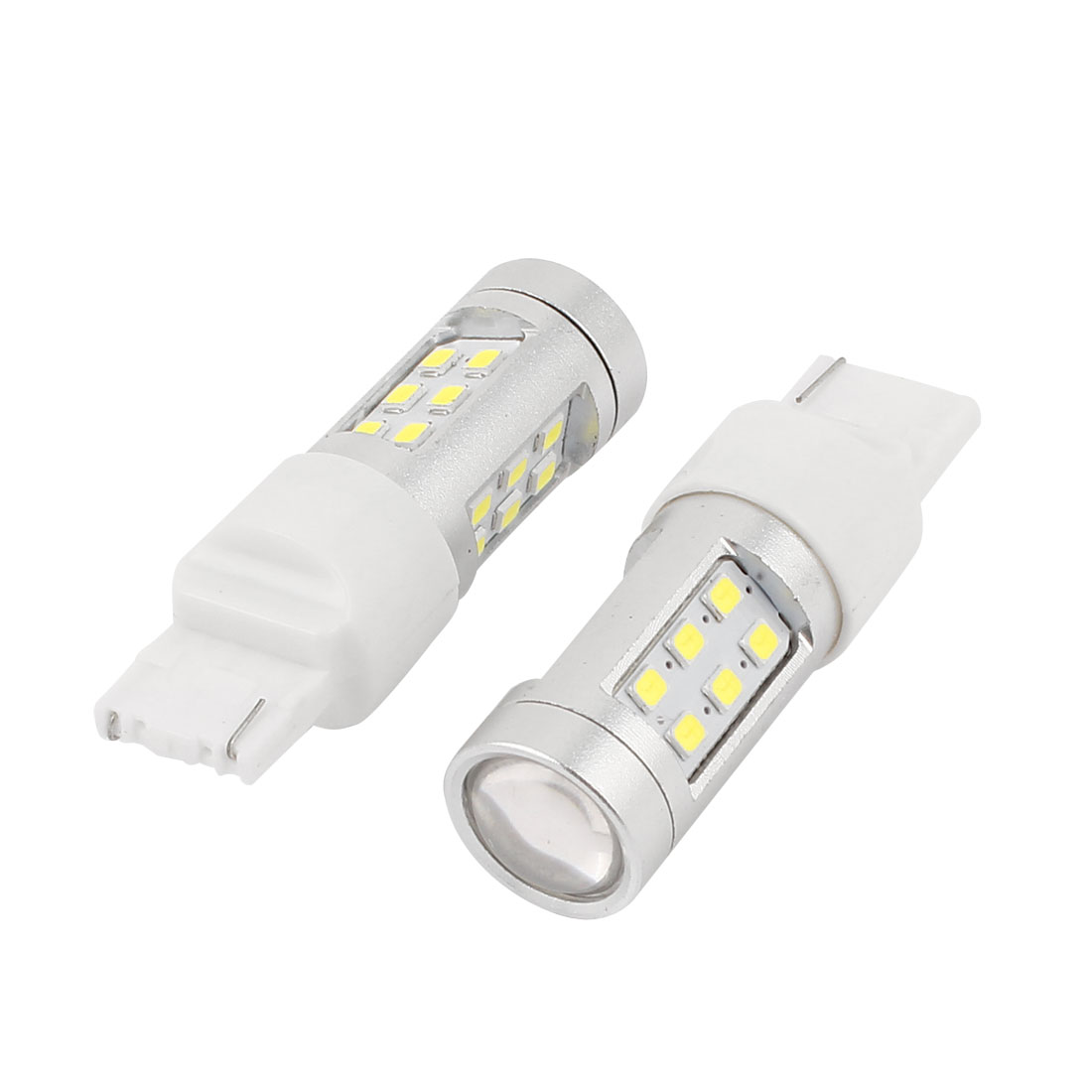 2 Pcs Car 1210 SMD 21 LED White T20 7440 Car Turn Signal Light Bulb