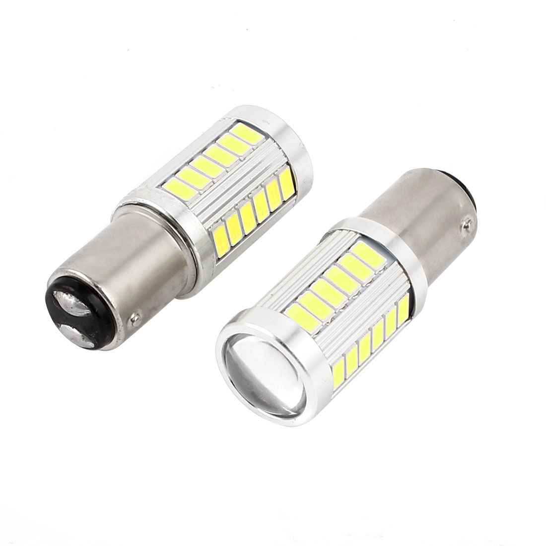2 Pcs 1157 White 5630 SMD 33 LED Car Tail Turn Brake Light Signal Lamp Bulb