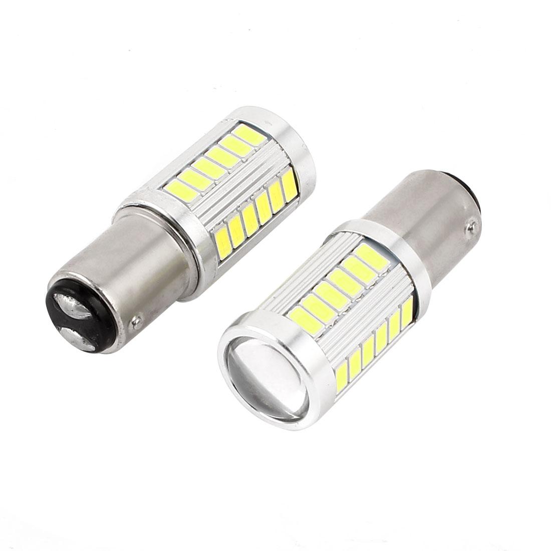 2 Pcs 1157 White 5630 SMD 33 LED Car Tail Turn Brake Light Signal Lamp Bulb