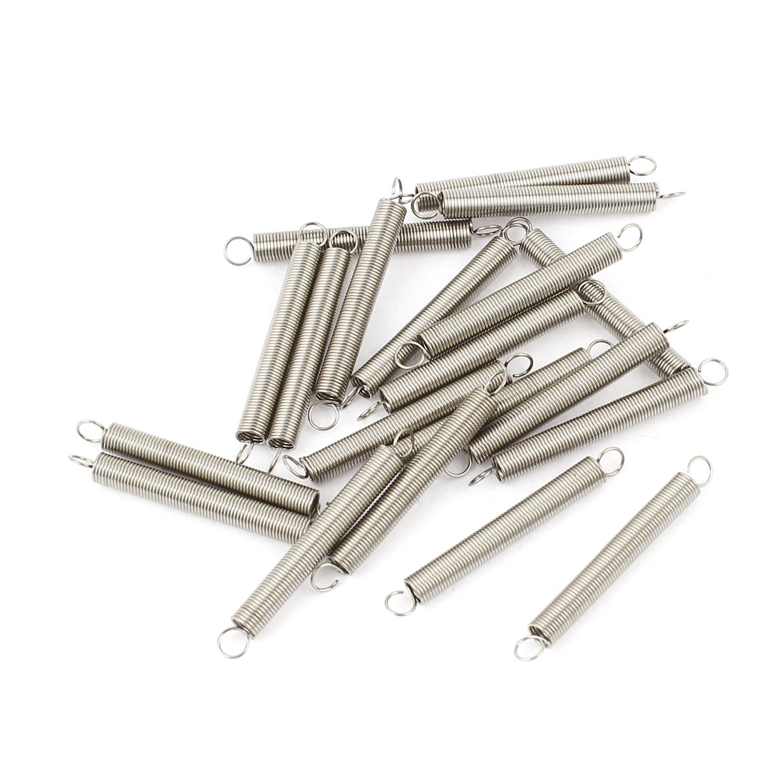"0.14"" OD x 0.016"" Wire Dia x 1"" Long Extension Spring Connectors 20Pcs"